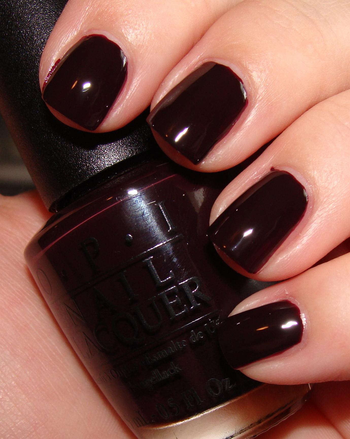 Dark Red Opi Nail Polish - Nails Gallery