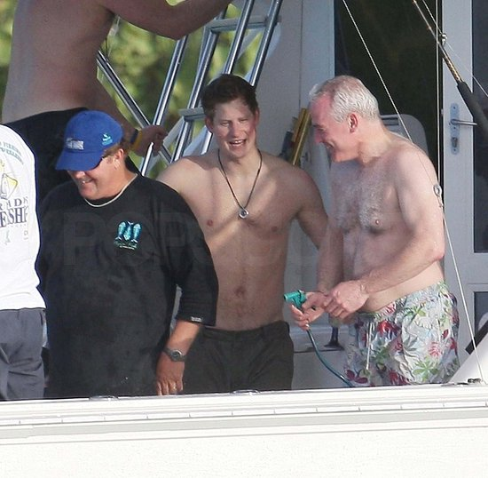 prince harry shirtless. Photos of Harry Shirtless