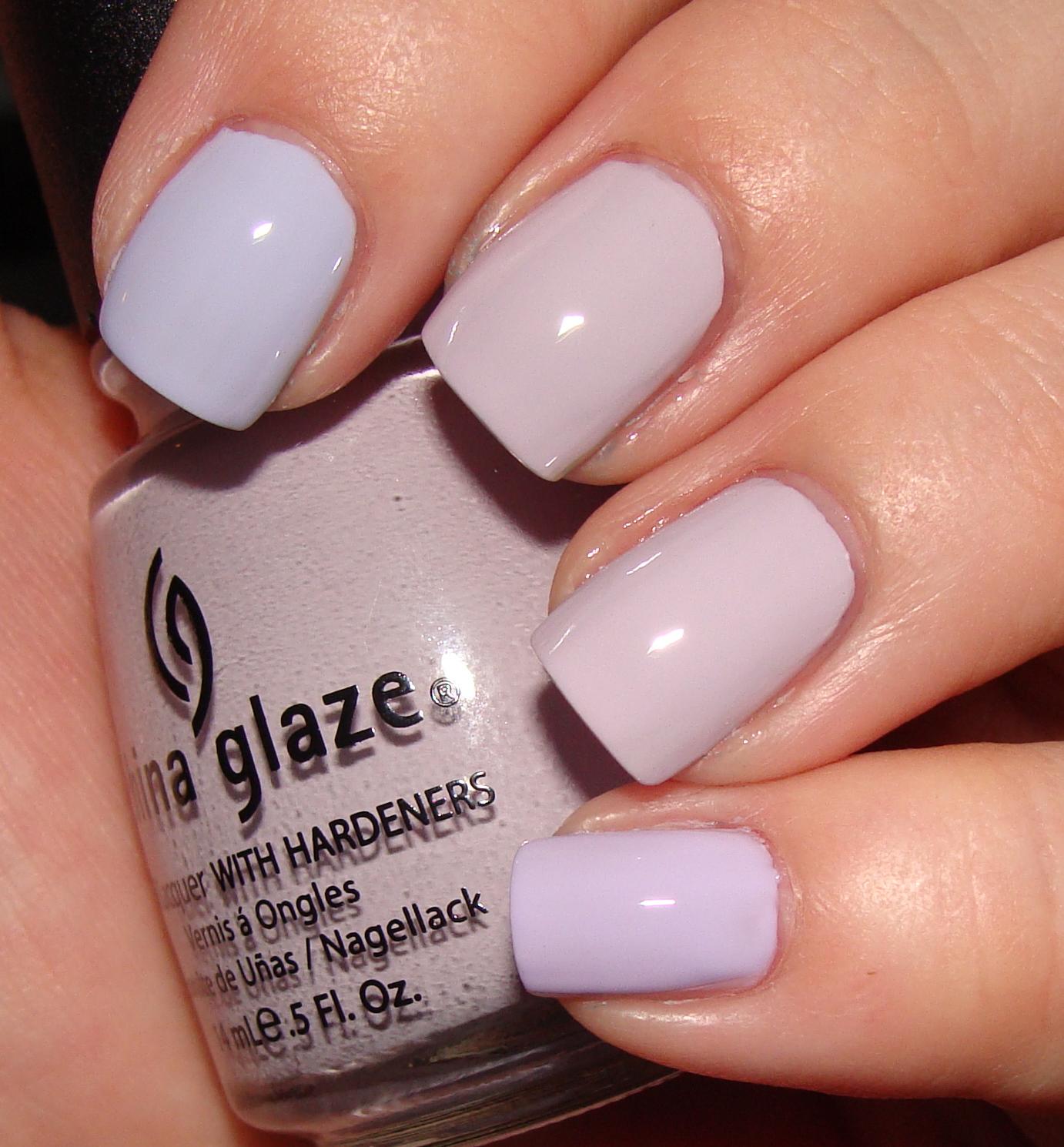 Light purple nails pinterest