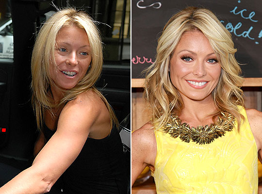 clebs without makeup. Kelly Ripa Without Makeup!