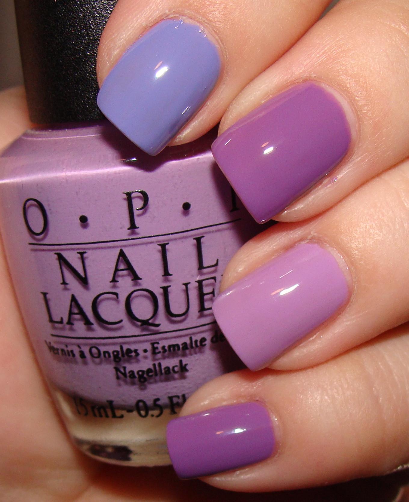 China Glaze Spontaneous  OPI Do You Lilac It   OPI A Grape Fit