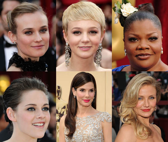 At the Oscars, hairstyles ranged from classic to cutting-edge.