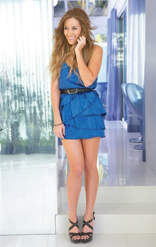 One of the standouts is this LC Lauren Conrad Ruffled Dress ($40,