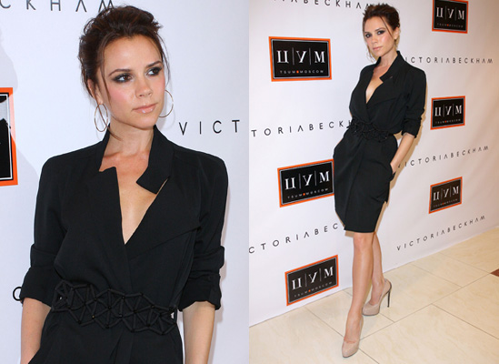 Photos of victoria beckham launching dress collection in russia