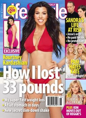 Diet and Weight Loss Tips From Kourtney Kardashian in Life & Style ...