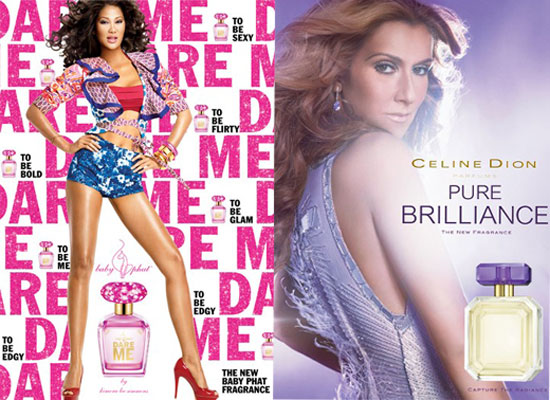 ... today both Kimora Lee Simmons and Celine Dion premiered ads for new ...