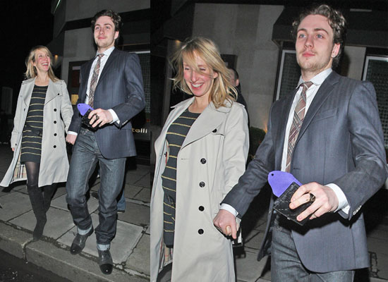 Photos of Aaron Johnson Engaged...