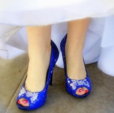 modern victorian wedding shoes