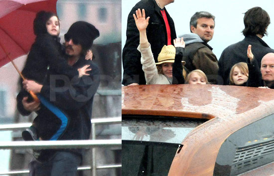 Johnny Depp, dressed. Johnny stayed behind in Italy to continue work on The