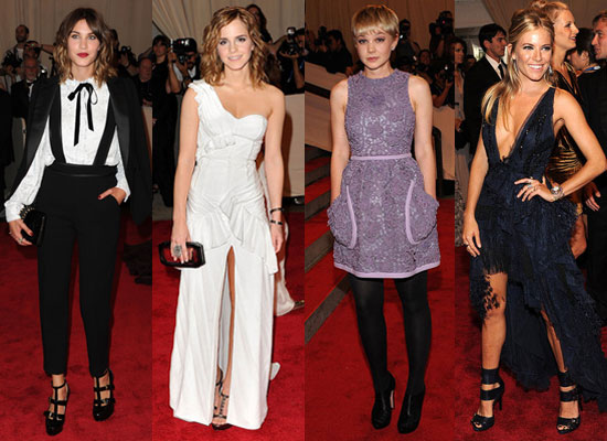 b68ff126b5536275 Photos of Met Costume Institute Gala Red Carpet Including Carey Mulligan Sienna Miller Emma Watson.  There is an outside cam and 2 inside cams: