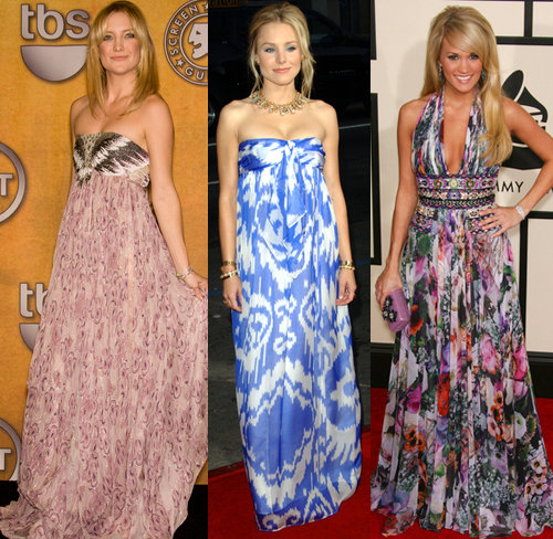 Kate Hudson, Kristen Bell, and Carrie Underwood looking sexy in thier summer dresses