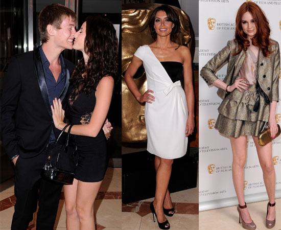 Bafte MO http://www.popsugar.co.uk/Pictures-Kaya-Scodelario-Elliott-Tittensor-Kissing-BAFTA-Craft-Awards-Plus-Karen-Gillan-Christine-Bleakley-8537845
