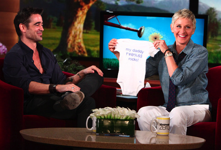 Yesterday, Ellen DeGeneres gave Colin Farrell a thoughtful gift for his baby ...