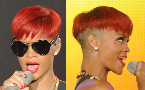 rihanna hair. of Rihanna#39;s New Red Hair