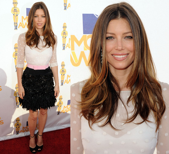 jessica biel hair color 2010. Jessica Biel makes her red