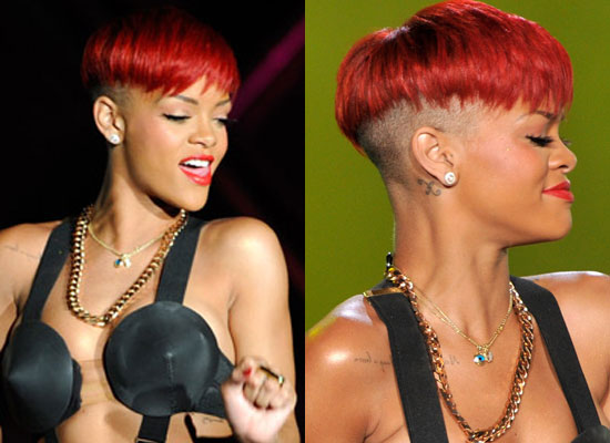 rihanna red hairstyles. Rihanna is currently in the