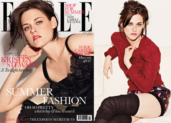 Pictures of Kristen Stewart on the Cover of British Elle Magazine July 2010,