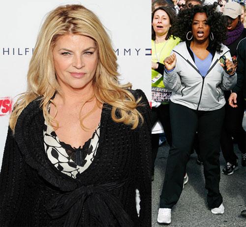 oprah winfrey body. Kirstie Alley, Oprah Winfrey,