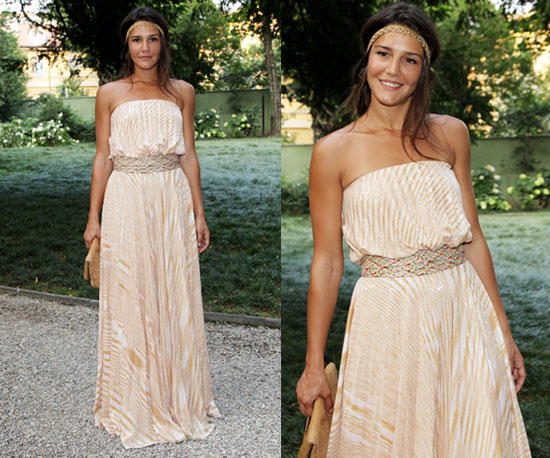 Margherita Missoni Wearing Peachy Striped Missoni Maxi and Hippie Headband