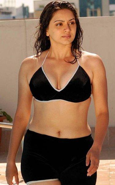 Indian Actress Wallpapers: Telugu Hot Hema Malini In Two Piece Bikini