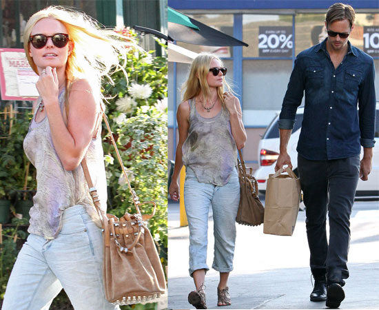 kate bosworth and alexander skarsgard. Kate accessorised her outfit