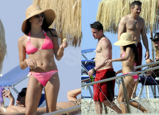 jenna dewan and channing tatum kissing. Jenna and Channing arrived at