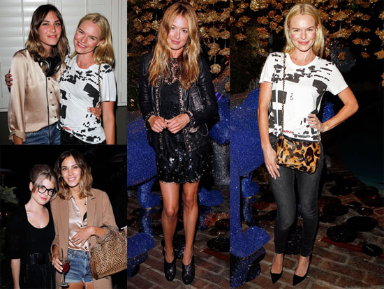 Kate Bosworth Raises a Glass For Mulberry With British Beauties