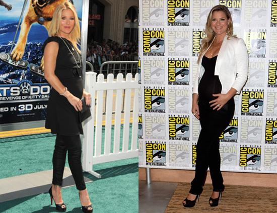 pregnant in heels ali. Christina Applegate and Ali