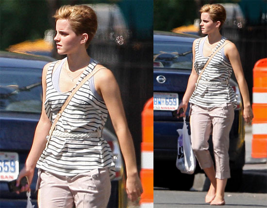 emma watson short hair pictures. Emma Watson Debuts Her Short