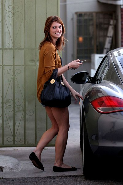 ashley greene hair colour. Ashley Greene Leaving a Studio