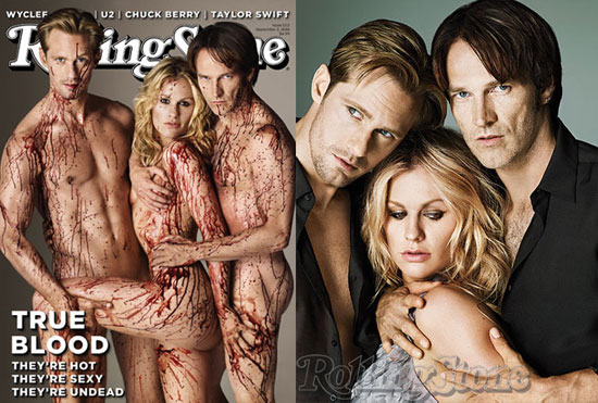 true blood rolling stones cover picture. The stars of True Blood made a