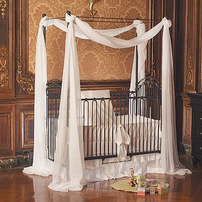 Iron Baby Crib on Baby Furniture  Bedroom Bratt Decor Venetian 3 In 1 Iron Crib In Slate