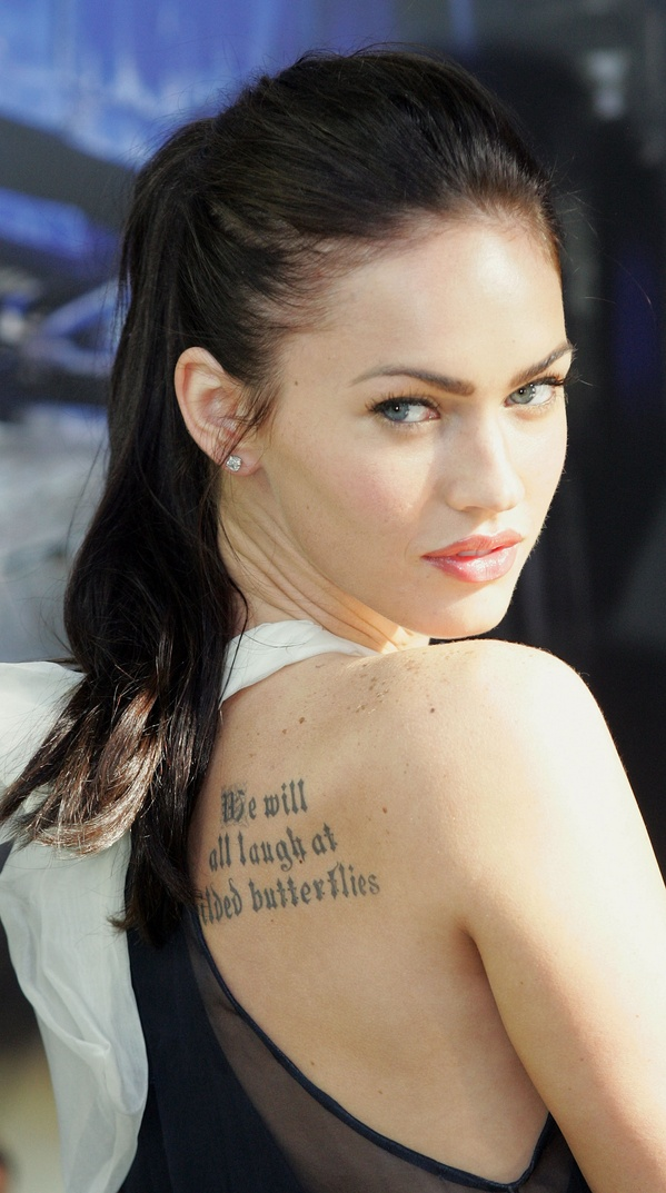 Megan Fox: celebrity tattooo design