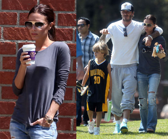 Pictures of David Beckham and Victoria Beckham Cheering on Romeo ...