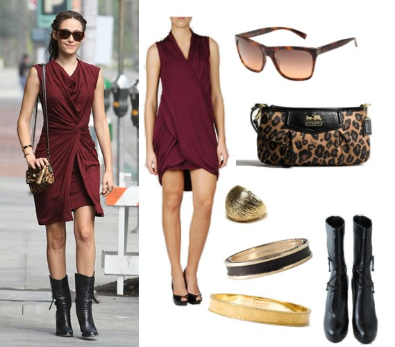 ($122) and midcalf boots.