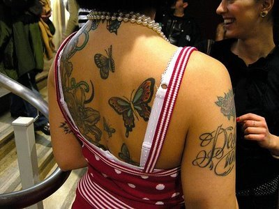 sexy girls tattoo design, butterfly tattoo popular , temporary tattoo on