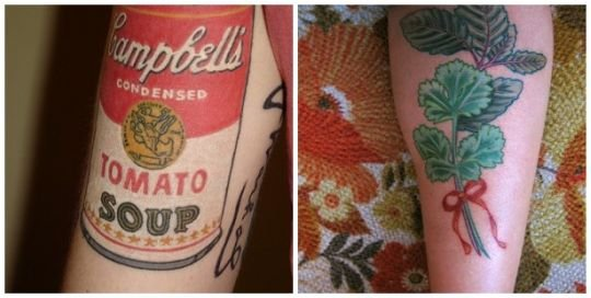 food tattoos. the sacred cupcake was done in 2001 by Jason Stephan.the tattoos food, tattoo art on body, food tattoo popular, burger tattoo