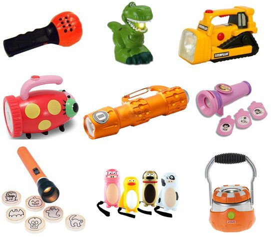 Avoid the obstacles by arming your kiddo with a flashlight of their own!