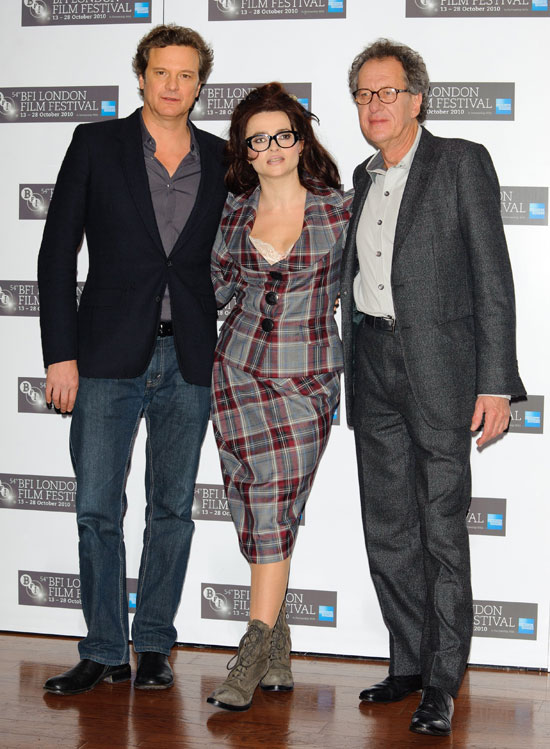 Pictures of Helena Bonham Carter, Colin Firth, Geoffrey Rush at The King's ...