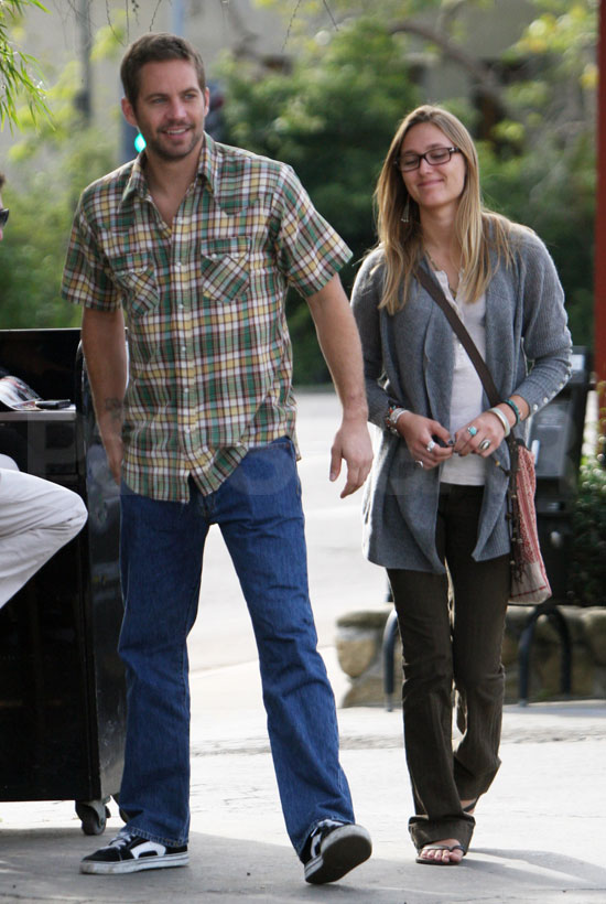Pictures of Paul Walker and Girlfriend Jasmine Pilchard-Gosnell