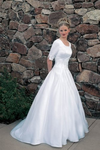 Eternity by Millennial Sun White Plus Size 18 Bridal Gown Wedding Dress LDS