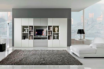 Black and white furniture for simple living rooms decorating