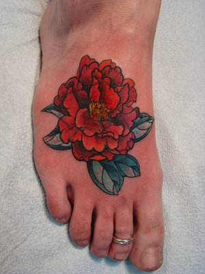 A tattoo will remain on the skin permanently through the entire life,