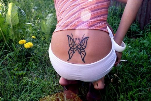 The butterfly tattoo can be customized by the tattoo artist and can even be