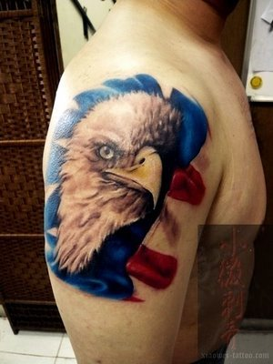 eagle free tattoo design A typical American symbol eagle tattoo.