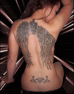 winged angel tattoo sexy girl tattoo girly