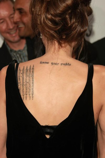 angelina jolie tattoos and meaning. angelina jolie
