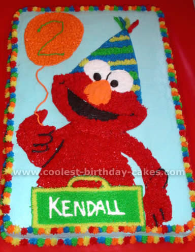 Elmo Birthday Cake on Elmo Birthday Cake 12 Jpg