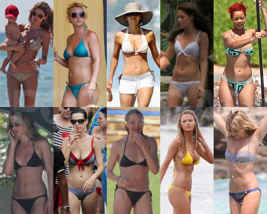 so tell us — who do you think has the hottest bikini body of 2010?