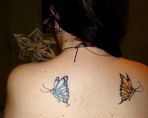 butterfly tattoo on back body women are very popular amongst